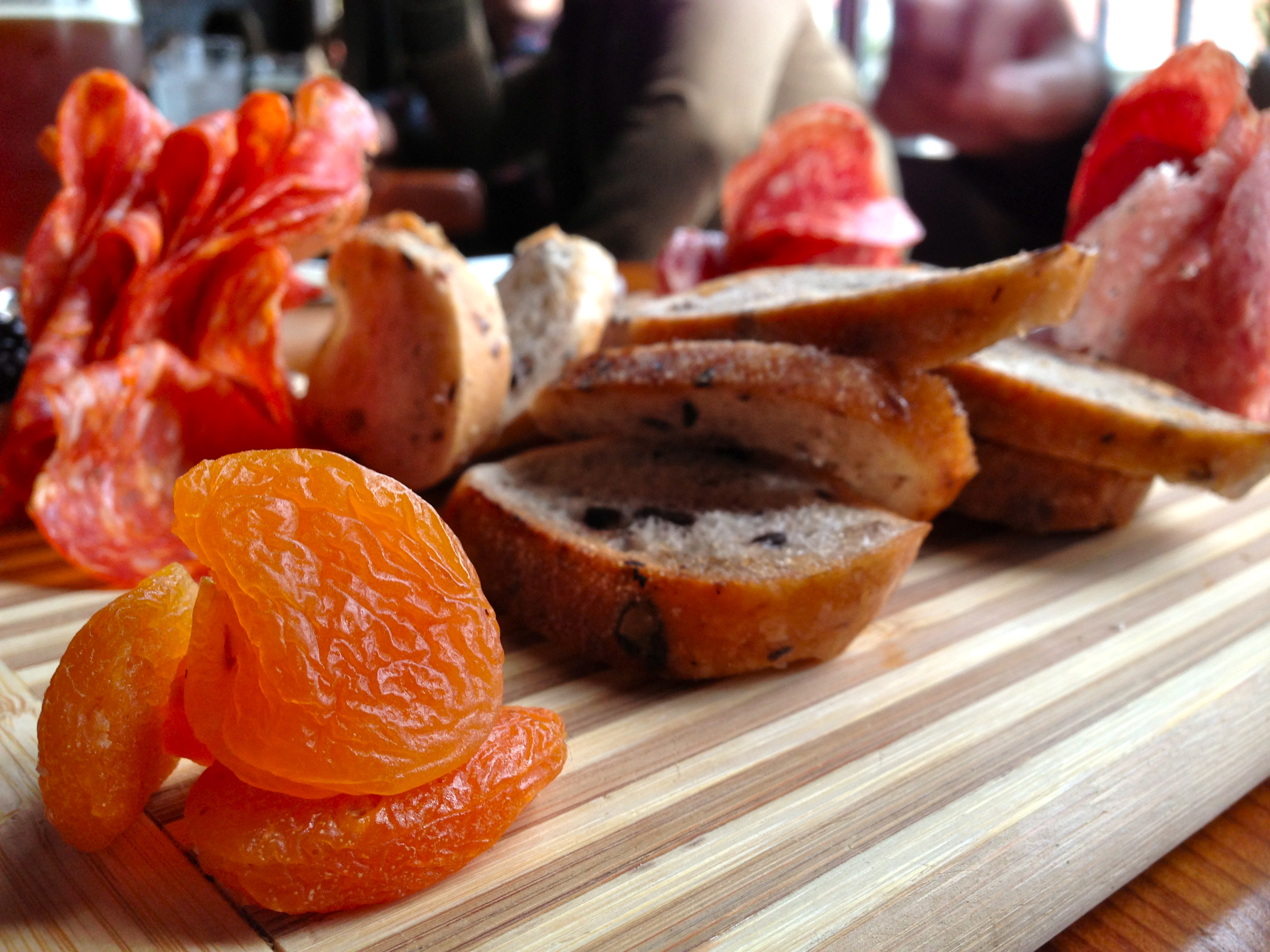 Salty, porky heaven: The Faculty's massive and pretty charcuterie platter, $15