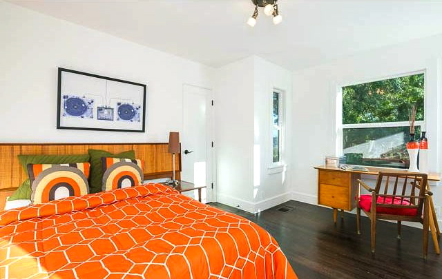 Master bedroom with dual closets