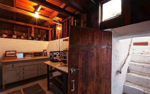 California basement as wine cellar.  Courtesy of Michelle St. Clair – Sotheby's Los Feliz