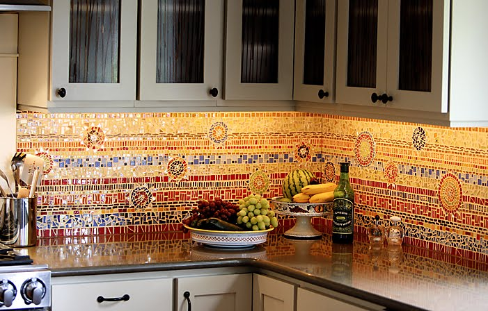 A backsplash that makes a statement