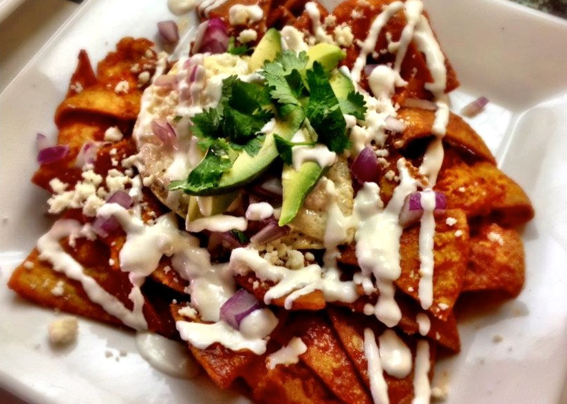 The Highland Cafe: Crispy and saucy chilaquiles