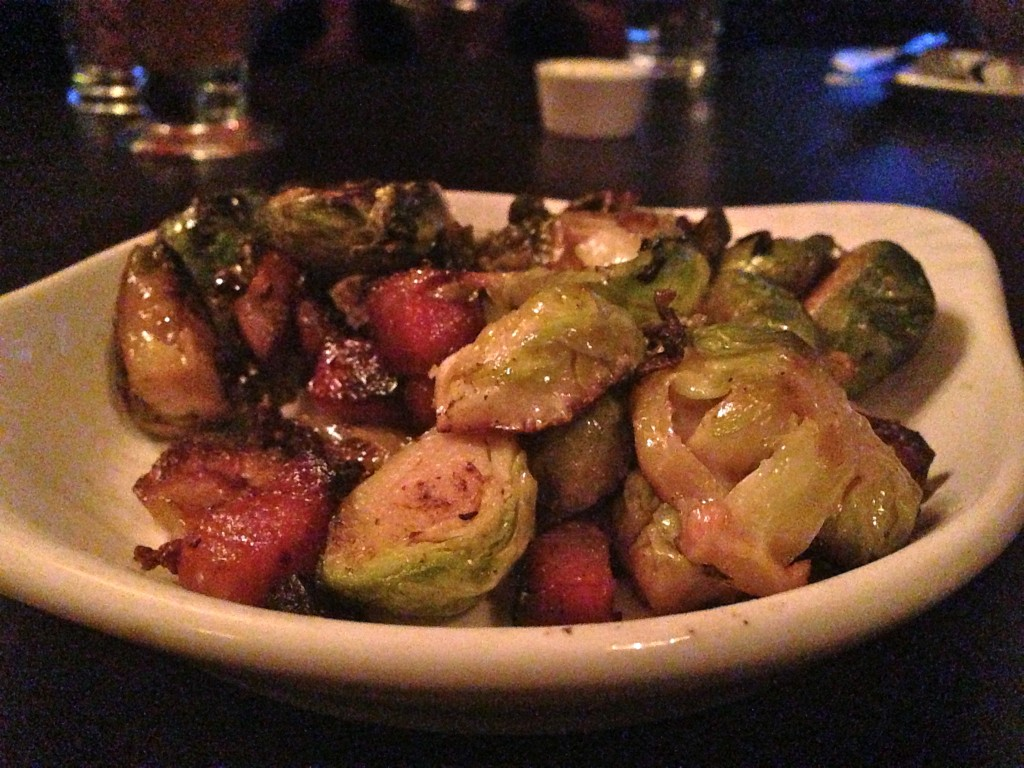 Bacon brussel sprouts, $5