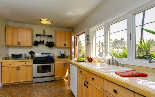 Kitchen with views