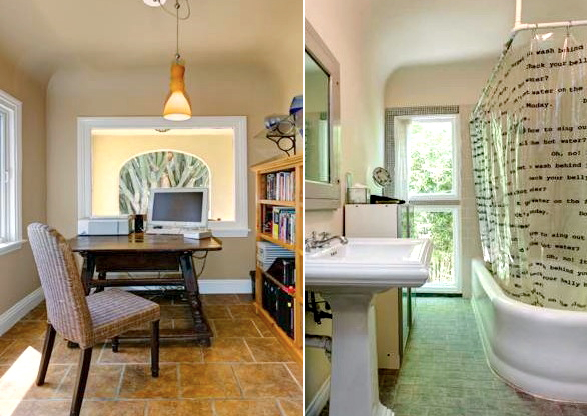 Office nook and bath