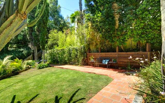 Grassy yard and patio
