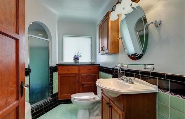 Original bath with shower alcove