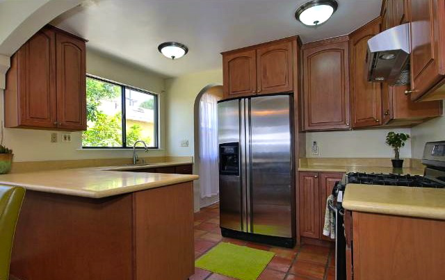 Open and updated kitchen