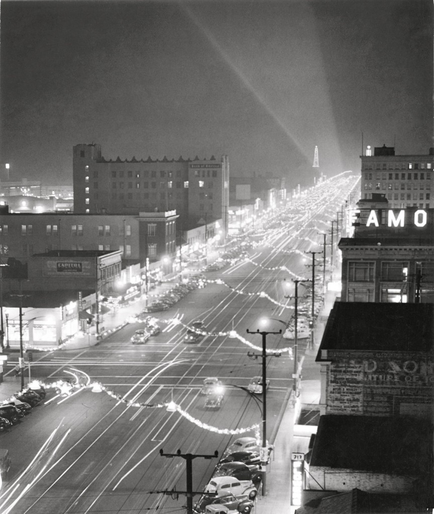 Glitzy Brand Blvd. probably how it looked on opening night in 1922