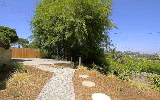 Patio, yard and views