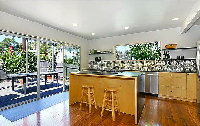 Open kitchen with direct patio access