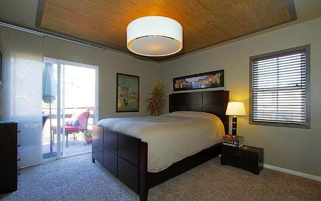 Bedroom with view deck