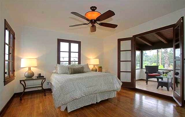 Master bedroom with sun room