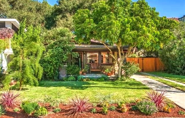 Nestled in lush landscaping in Eagle Rock