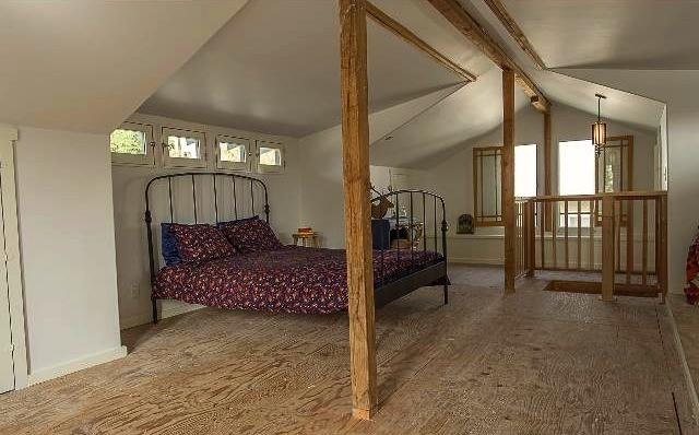Semi-finished attic/bonus space. Courtesy of Deirdre Salomone – Keller Williams Los Feliz