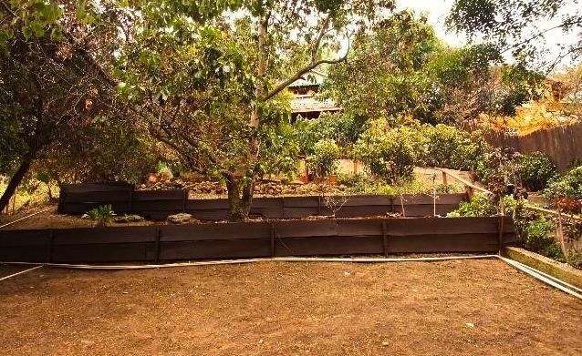 Gently sloped yard