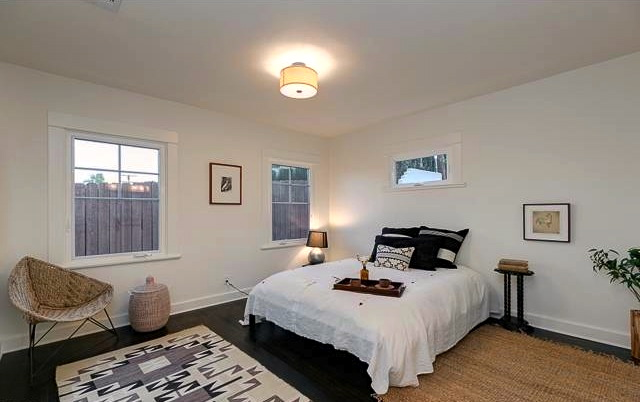 Bedroom with attached bath
