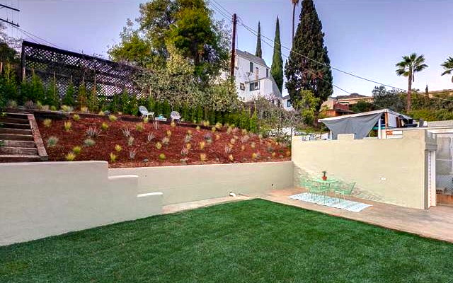 Terraced yard and patio. Courtesy of Michelle St. Clair -- Sotheby's