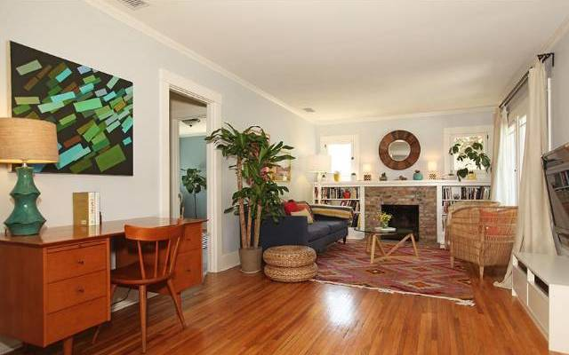 Original wood floors and gorgeous casement windows