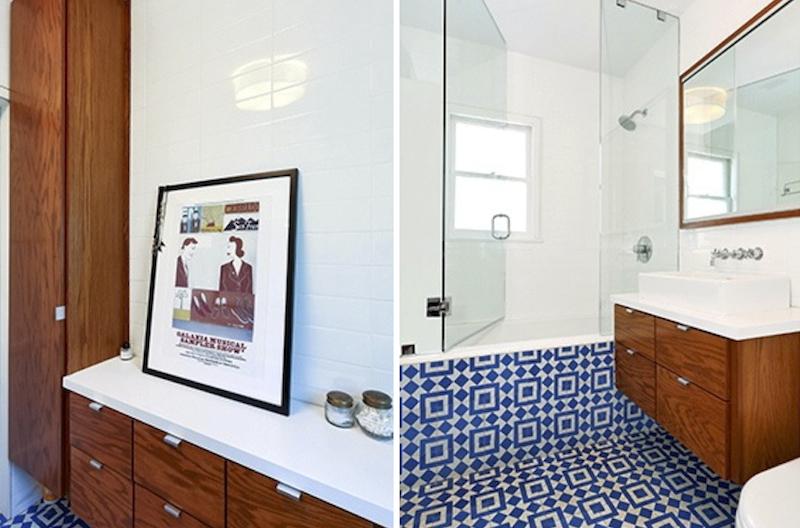 Modern and vintage-y bath