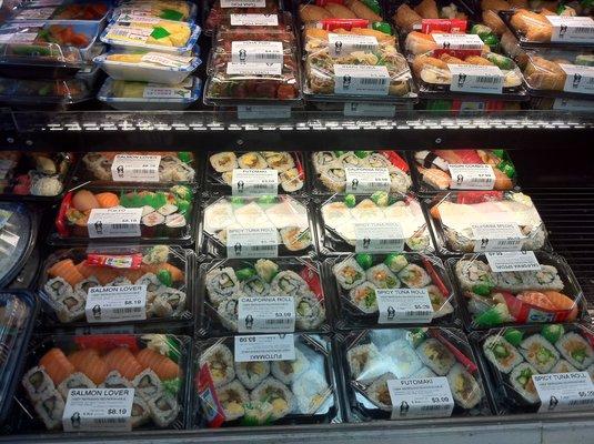 Huge selection of fresh sushi