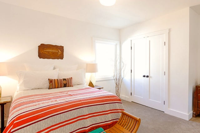 Bedroom with built-in closets
