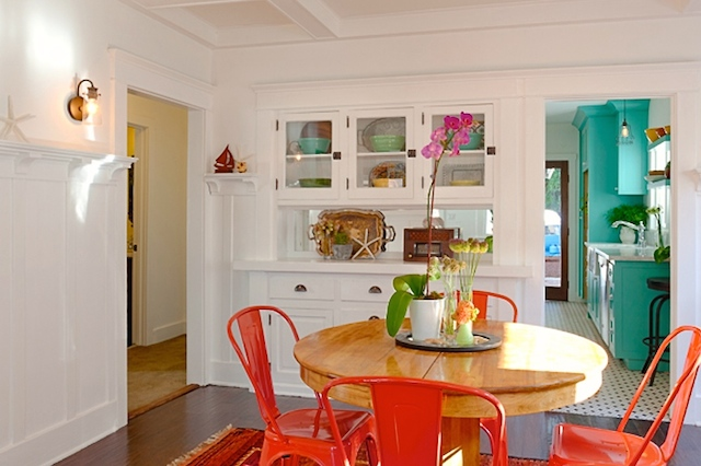 Dining room with original built-in sideboard