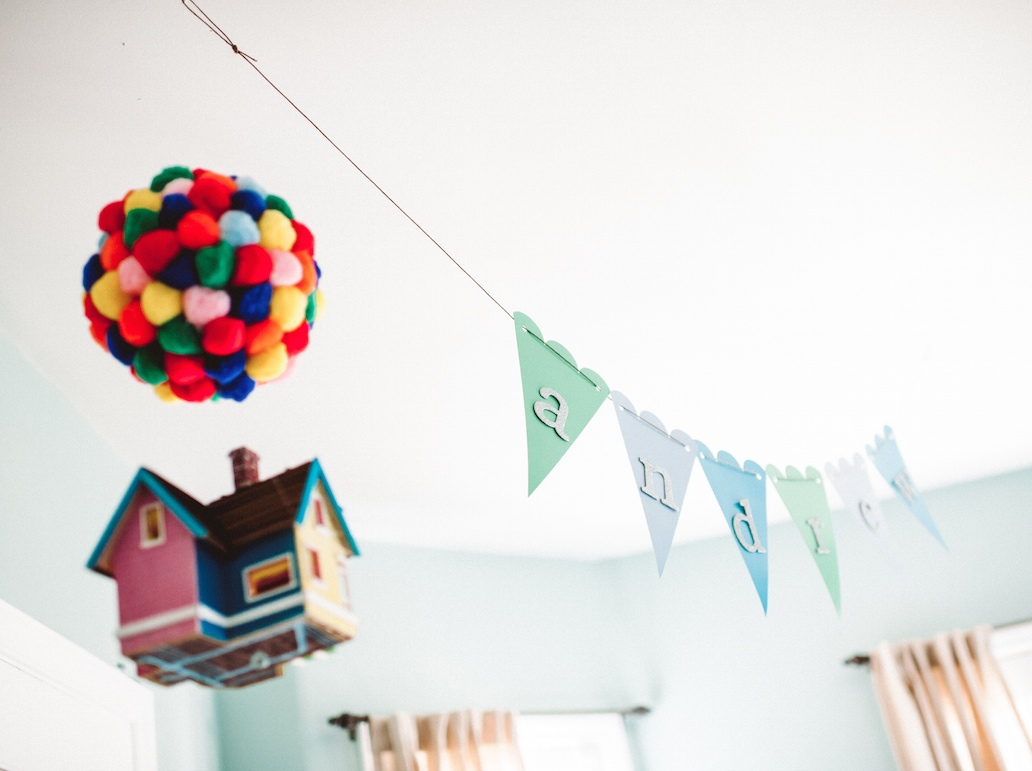 "Our ""Up"" inspired travel nursery"
