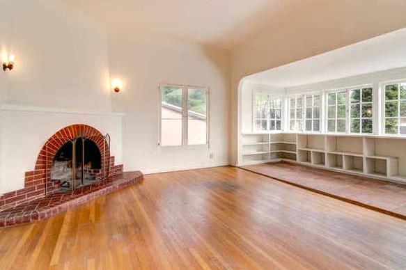 Fireplace and sun room