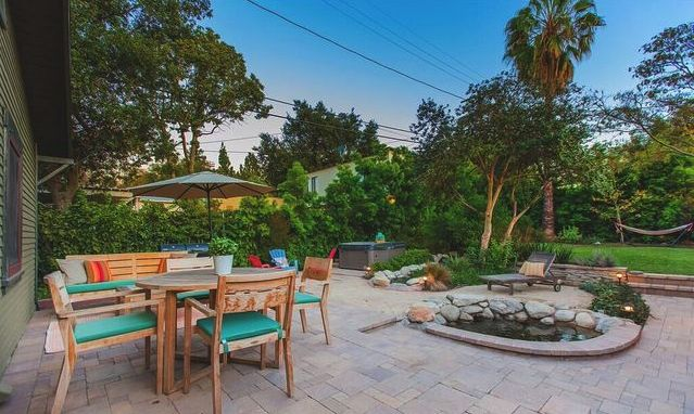 Backyard retreat and pond