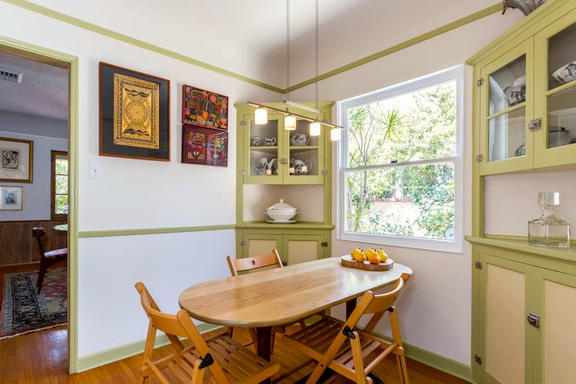 Breakfast nook with original built-ins